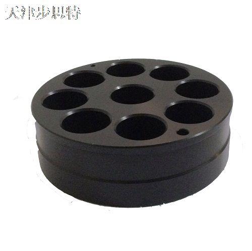 WWW_AHBST888_COM_ahb-09x-1(反应管加热模块/黑色/均9孔/平孔底/高60mm/外径128mm/孔径
